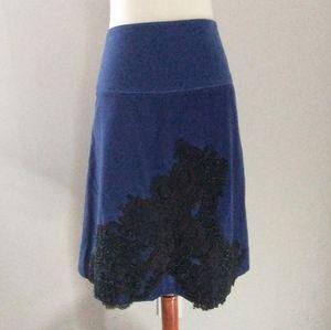 Anthropologie Elevenses Skirt Size 10 Cyan Current